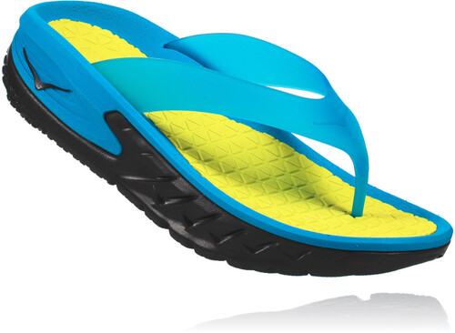 Hoka One One Ora Recovery Flip Sandals Women Black/Process Blue Schuhgröße US 6 K8Pmsj9c